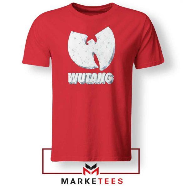 Vintage 90s Wutang Clan Logo Red Tee Shirt