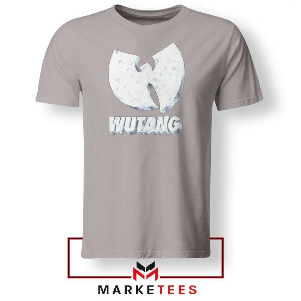 Vintage 90s Wutang Clan Logo Sport Grey Tee Shirt