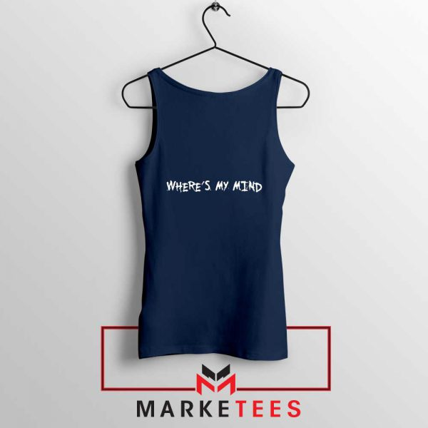 Where is My Mind Bellyache Navy Blue Tank Top