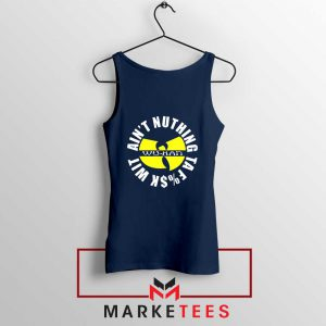 Wu Han Aint Nuthing Ta Fuck Wit Navy Blue Tank Top