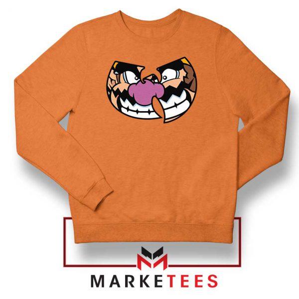 Wu Tang Clan Wario Orange Sweater