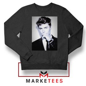 Zac Efron American Actor Black Sweatshirt