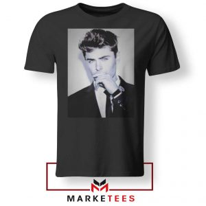 Zac Efron American Actor Black Tshirt