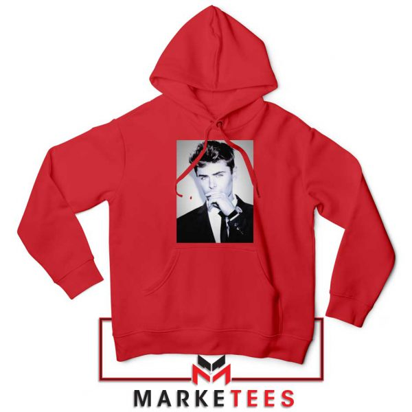 Zac Efron American Actor Red Hoodie