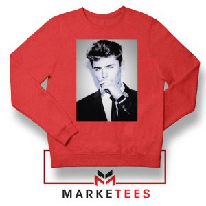 Zac Efron American Actor Red Sweatshirt
