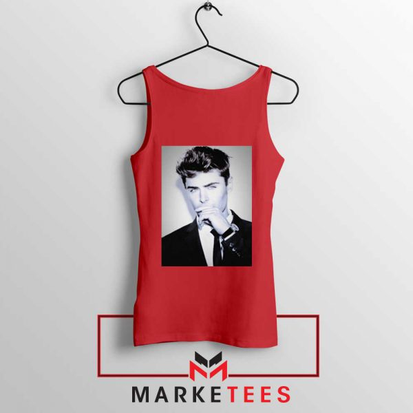 Zac Efron American Actor Red Tank Top