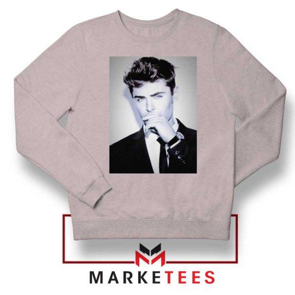 Zac Efron American Actor Sport Grey Sweatshirt