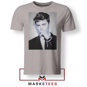 Zac Efron American Actor Sport Grey Tshirt