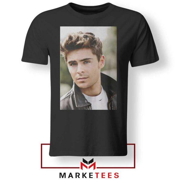 Zac Efron Posters Black Tshirt