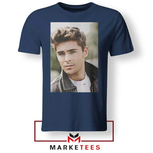 Zac Efron Posters Navy Blue Tshirt