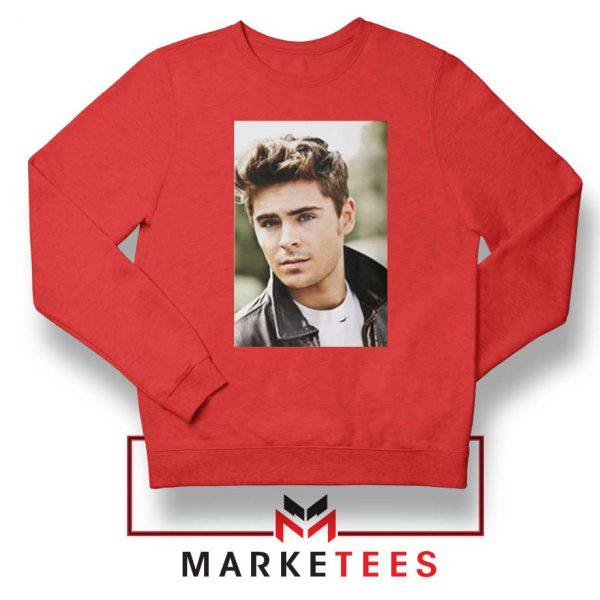 Zac Efron Posters Red Sweatshirt