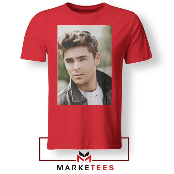 Zac Efron Posters Red Tshirt