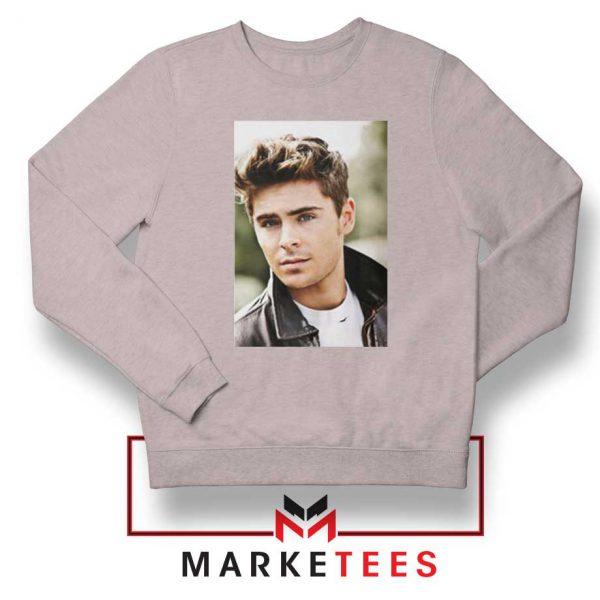 Zac Efron Posters Sport Grey Sweatshirt