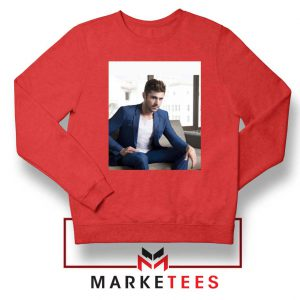 Zac Efron Richard Samuels Red Sweatshirt