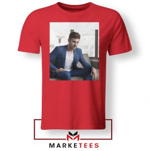 Zac Efron Richard Samuels Red Tshirt