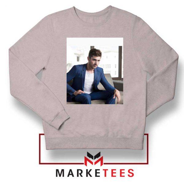 Zac Efron Richard Samuels Sport Grey Sweatshirt