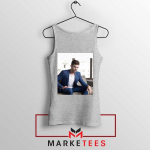 Zac Efron Richard Samuels Sport Grey Tank Top