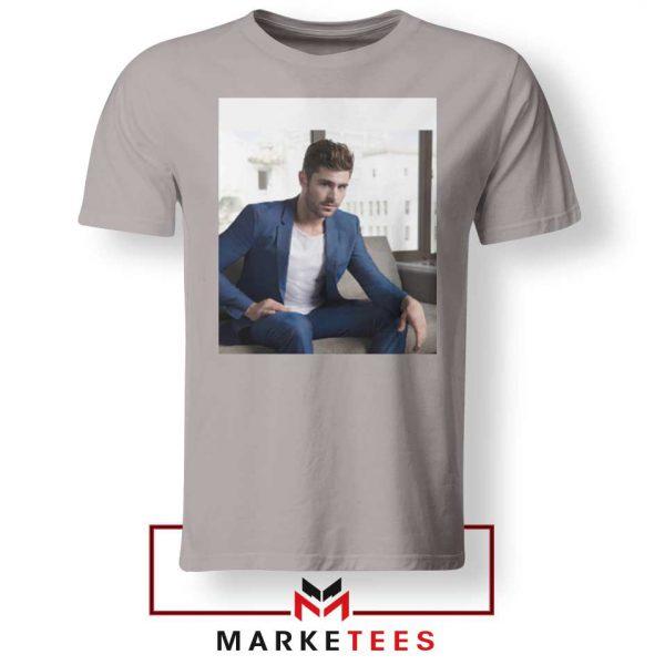 Zac Efron Richard Samuels Sport Grey Tshirt