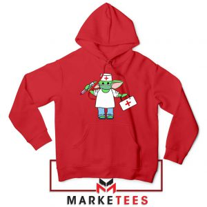 Baby Yoda Covid19 Red Hoodie
