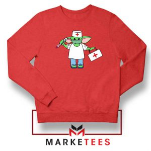 Baby Yoda Covid19 Red Sweatshirt