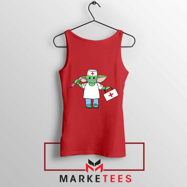 Baby Yoda Covid19 Red Tank Top