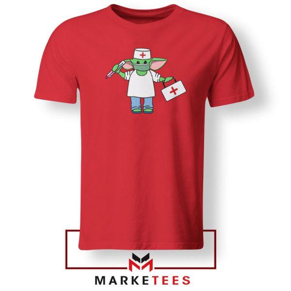Baby Yoda Covid19 Red Tshirt