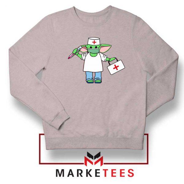 Baby Yoda Covid19 Sport Grey Sweatshirt