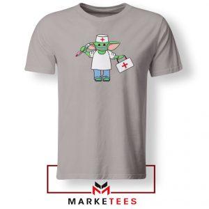 Baby Yoda Covid19 Sport Grey Tshirt