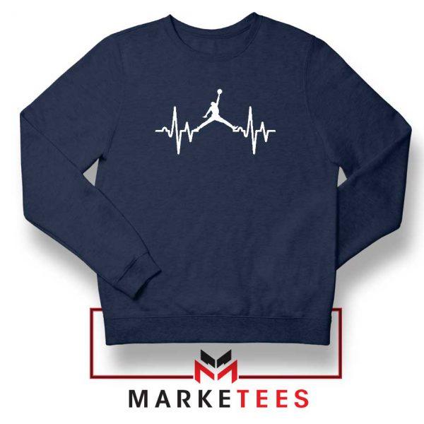 Basketball Heartbeat Dunk Navy Blue Sweatshirt