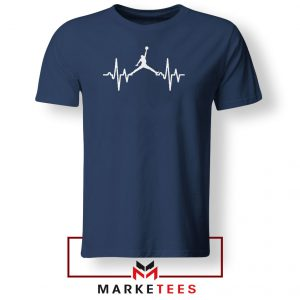 Basketball Heartbeat Dunk Navy Blue Tshirt