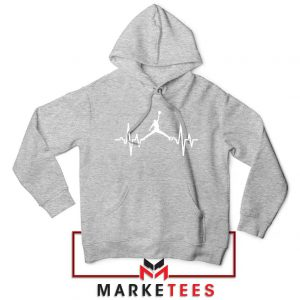 Basketball Heartbeat Dunk Sport Grey Hoodie