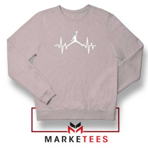 Basketball Heartbeat Dunk Sport Grey Sweatshirt