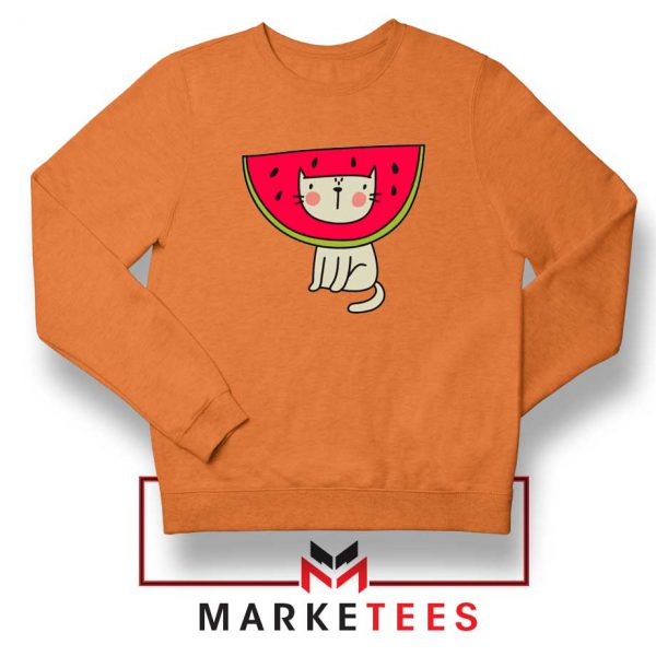 Cat Animal Orange Sweatshirt