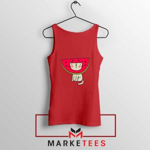 Cat Animal Red Tank Top
