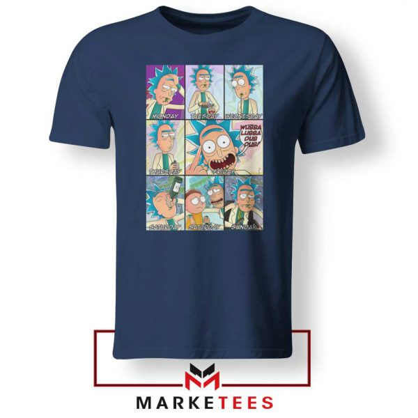 Cheap Rick Drunk Navy Blue Tshirt