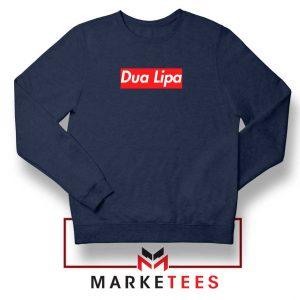 Dua Lipa Supreme Navy Blue Sweatshirt