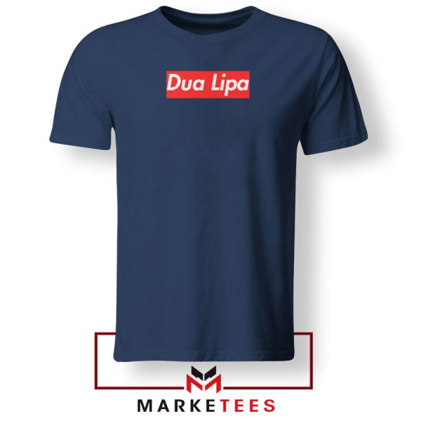 Dua Lipa Supreme Navy Blue Tshirt