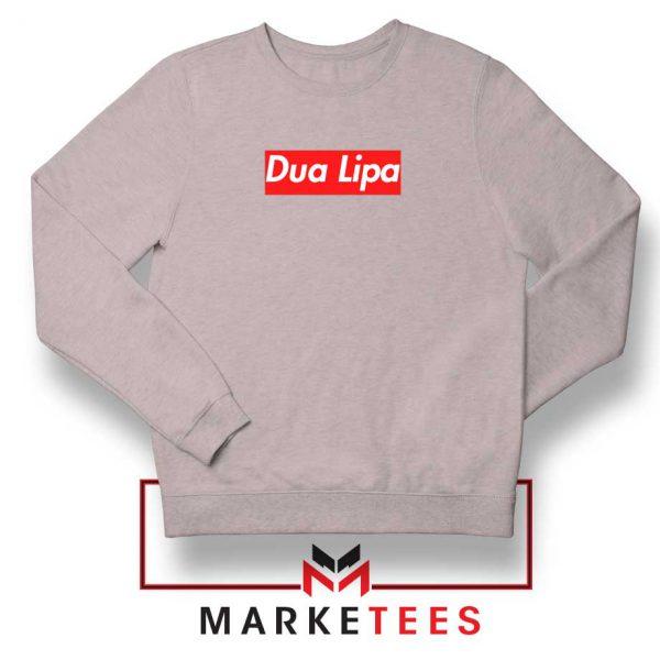 Dua Lipa Supreme Sport Grey Sweatshirt