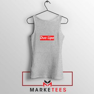 Dua Lipa Supreme Sport Grey Tank Top