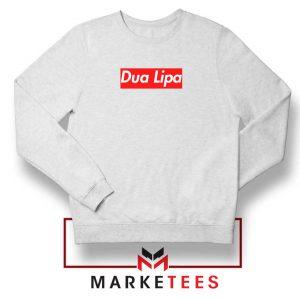 Dua Lipa Supreme White Sweatshirt