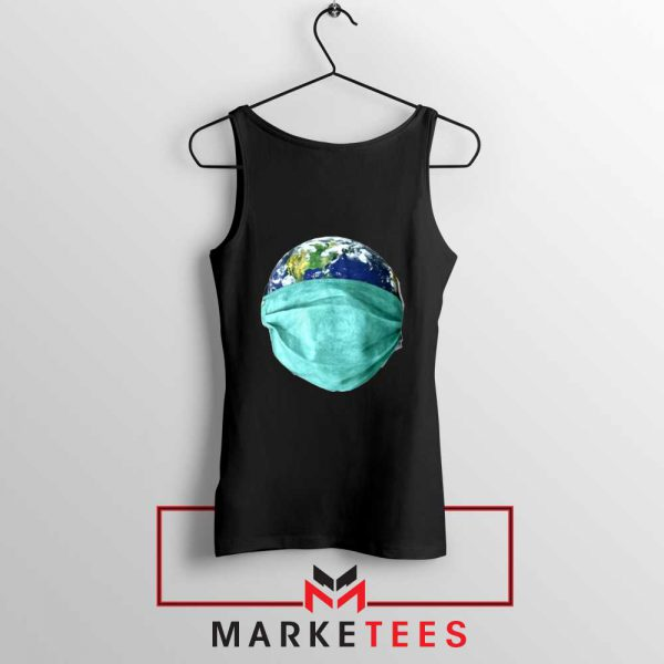 Earth Mask Coronavirus Black Tank Top