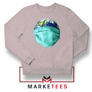 Earth Mask Coronavirus Sport Grey Sweatshirt