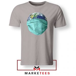 Earth Mask Coronavirus Sport Grey Tshirt