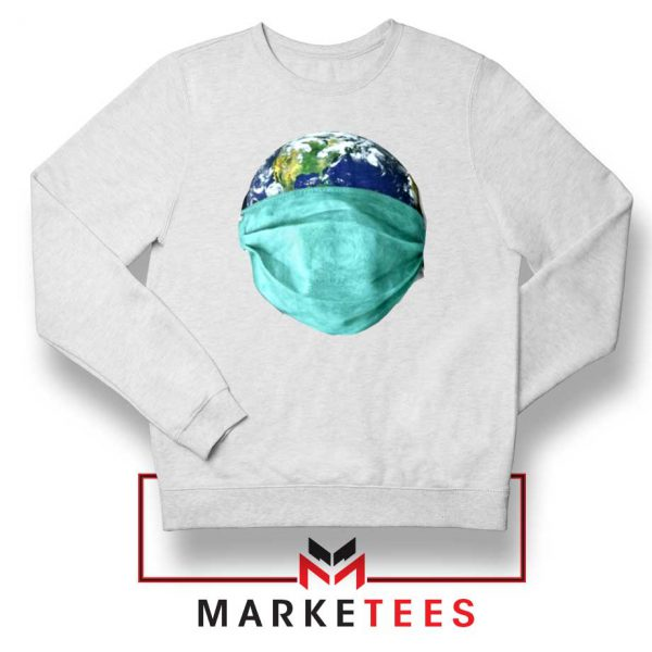 Earth Mask Coronavirus Sweatshirt