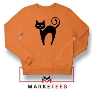 Glowing Cat Eyes Orange Sweatshirt