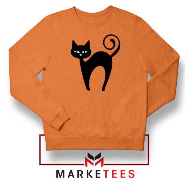 Glowing Cat Eyes Orange Sweatshirt
