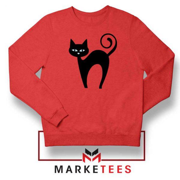 Glowing Cat Eyes Red Sweatshirt