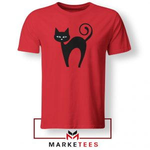 Glowing Cat Eyes Red Tshirt