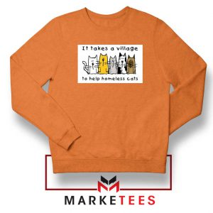 It Takes Village Cat Orange Sweatshirt