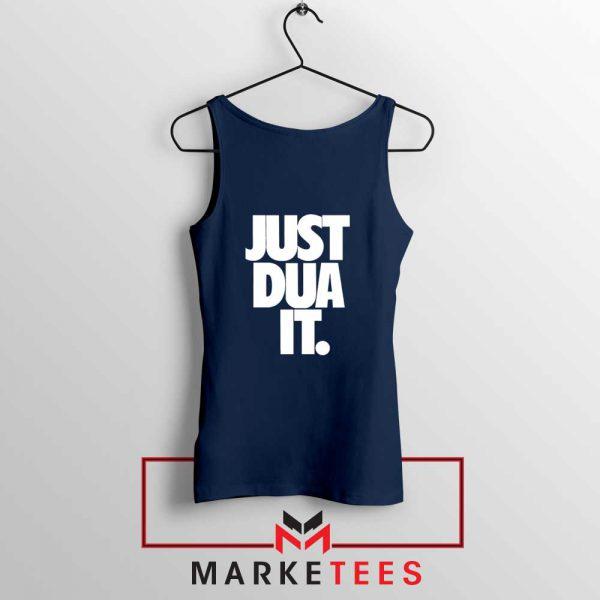 Just Dua It Nike Parody Navy Blue Tank Top